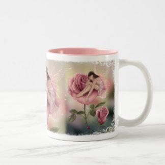 Taza de hadas color de rosa