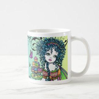 "Taza de hadas del arte del arco iris del ""ranúncul"