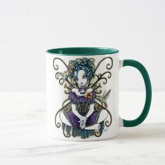 Taza de hadas del arte del colibrí gótico de
