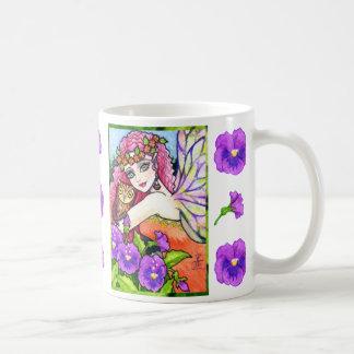 Taza de hadas del té del café de la fantasía del b