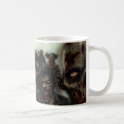 Taza de Halloween de los zombis