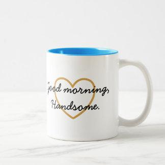 Taza de Handsomel de la buena mañana - tenga un dí
