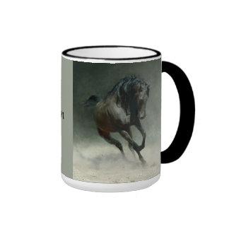Taza de Hoofprints del caballo salvaje