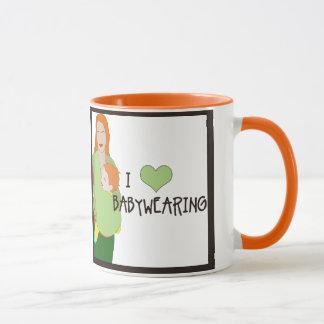 Taza de I <3 Babywearing - estilo F