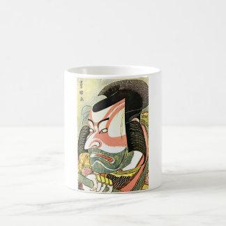 """Taza de Ichikawa actor el Ebizo de Hokusai """""""""""