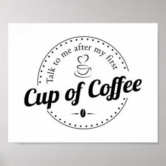 Taza de impresión de encargo de la cocina del café póster