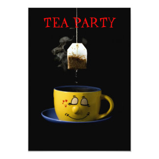 Taza de invitación de la fiesta del té