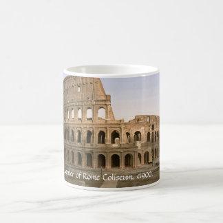 Taza de Italia del vintage, exterior del coliseo,