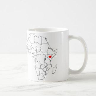 Taza de Kenia, África
