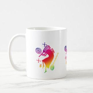 Taza de Kokopelli del arco iris