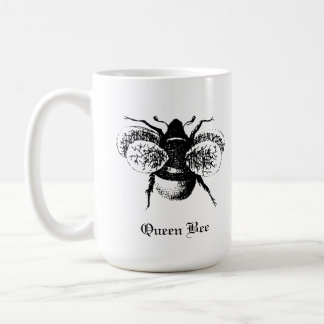 Taza de la abeja reina del vintage