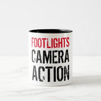 Taza de la acción de la cámara de los Footlights