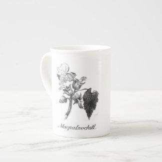 Taza de la aguafuerte del árbol de la mano del taza de porcelana