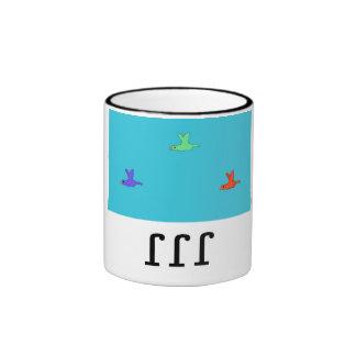 """""""Taza de la aleta de la aleta de la aleta"""" Taza De Dos Colores"""