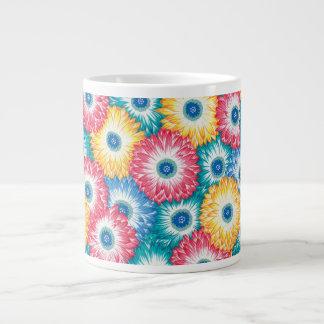 Taza de la alfombra del crisantemo de la tela de taza grande