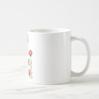 taza de la amapola del watercolour