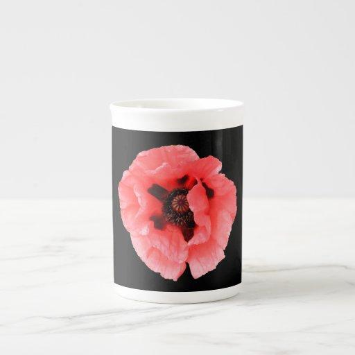 taza de la amapola taza de porcelana