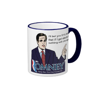 Taza de la apuesta de Romney $10k