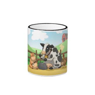 Taza de la banda de jarro del animal del campo