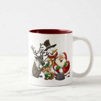 Taza de la banda de jarro del navidad