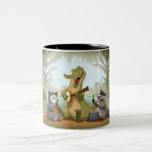 Taza de la banda de jarro del pantano