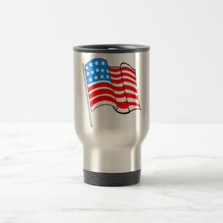 Taza de la bandera americana de las barras y