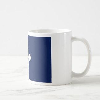 Taza de la bandera azul de Bottony