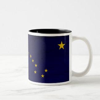 Taza de la bandera de Alaska
