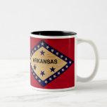 Taza de la bandera de Arkansas