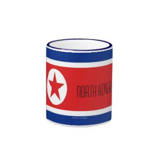 Taza de la bandera de Corea del Norte