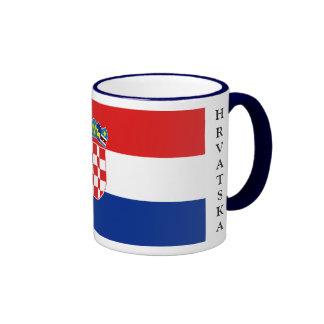 Taza de la bandera de Croacia