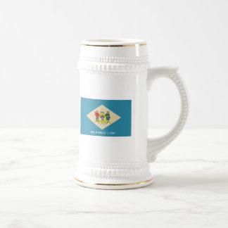 Taza de la bandera de Delaware