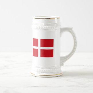 Taza de la bandera de Dinamarca