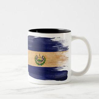 Taza de la bandera de El Salvador