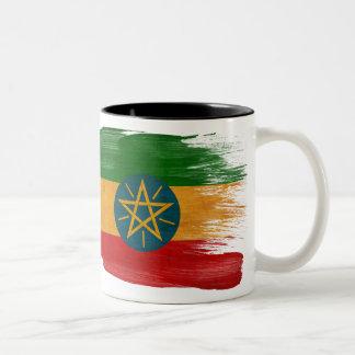 Taza de la bandera de Etiopía