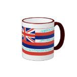 Taza de la bandera de Hawaii