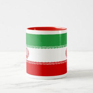Taza de la bandera de Irán