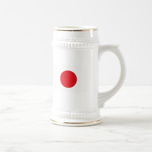 Taza de la bandera de Japón