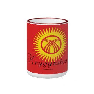 Taza de la bandera de Kirguistán