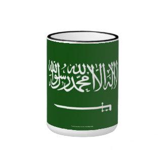 Taza de la bandera de la Arabia Saudita