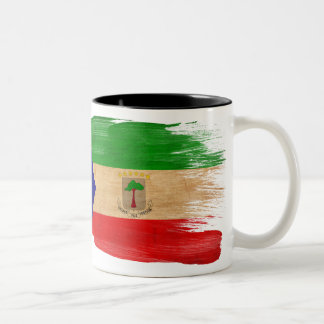 Taza de la bandera de la Guinea Ecuatorial