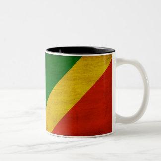 Taza de la bandera de la república de Congo