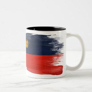 Taza de la bandera de Liechtenstein