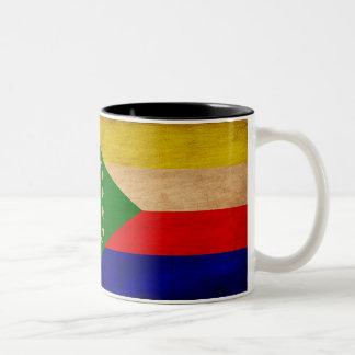 Taza de la bandera de los Comoro