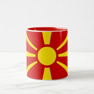 Taza de la bandera de Macedonia