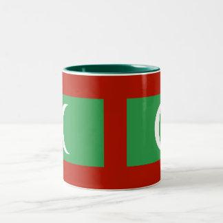 Taza de la bandera de Maldivas