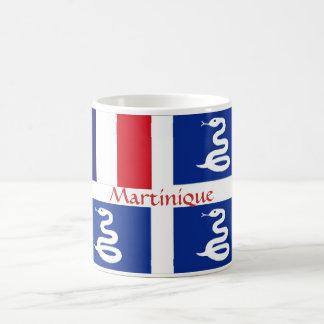 Taza de la bandera de Martinica