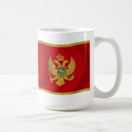 Taza de la bandera de Montenegro