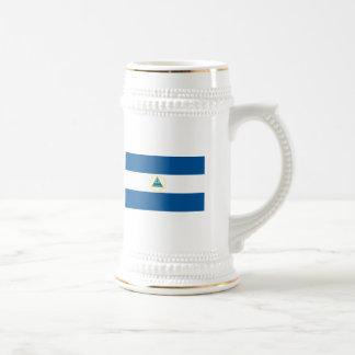 Taza de la bandera de Nicaragua