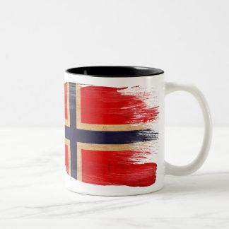 Taza de la bandera de Noruega